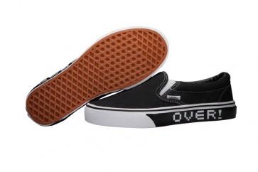 Chaussures Vans Nintendo Slip on Noir Blanche Pas Cher