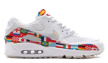 "Homme Nike Air Max 90 2018 FIFA World Cup ""International Flag"" Blanche Multi-Color En ligne"