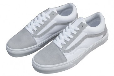 Chaussures Vans Old Skool Pas Cher - Blanche Grise Vans