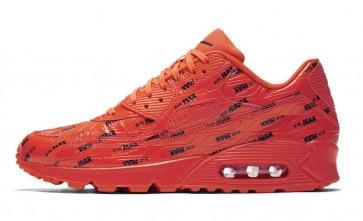"""Homme Nike Air Max 90 Premium """"Air Max"""" Pack Orange Noir Meilleur Prix"""