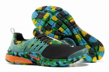Chaussures Nike Air Presto Homme Grise Yellwo Verte Camo Soldes