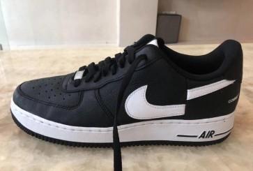 Homme Supreme x Comme Des Garçons x Nike Air Force 1 Low Noir Blanche En ligne