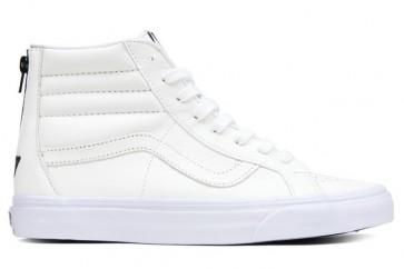 Chaussures Vans SK8 Hi Reissue Zip Soldes, Blanche Noir