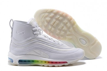 Boutique Homme Riccardo Tisci x Nike Air Max 97 Mid Boots Blanche Rainbow