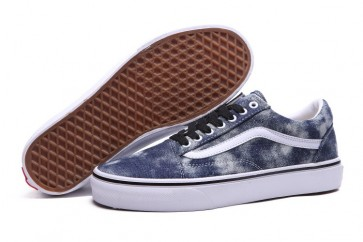 Chaussures Vans Old Skool Canvas Woody Denim Pas Cher