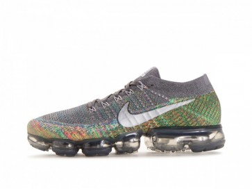 Homme Nike Air VaporMax Flyknit Grise Argent Soldes