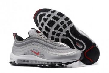 Homme Nike Air Max 97 OG GS Argent Blanche En ligne