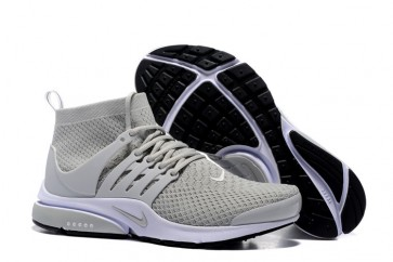 Chaussures Nike Air Presto High Ultra Flyknit Grise Pas Cher