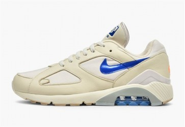 Homme Nike Air Max 180 Desert Sand Bleu Orange Rabais