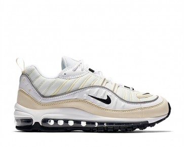 "Boutique Nike Air Max 98 Femme ""Fossil"" Blanche Noir"