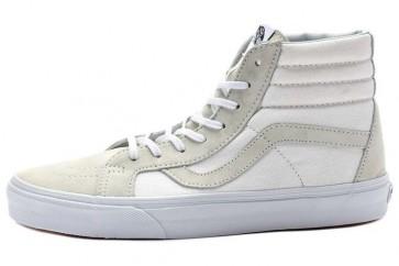 Vans Sk8 Hi Pas Cher - Chaussures Blanche Grise