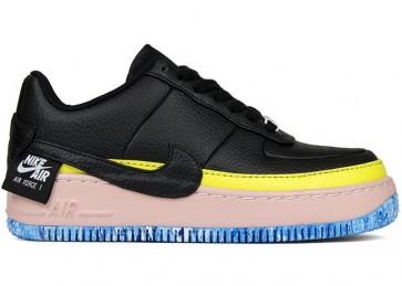 Femme Nike Air Force 1 Jester XX low Noir Sonic Jaune Pas Cher