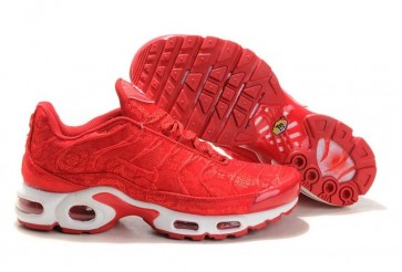 Boutique Chaussures Nike Air Max TN Plus Homme Rouge Blanche