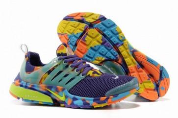 Chaussures Nike Air Presto Femme Pourpre Jaune Orange Camo Soldes