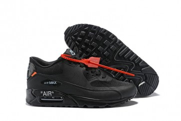 Off-White x Nike Air Max 90 All Noir Rabais