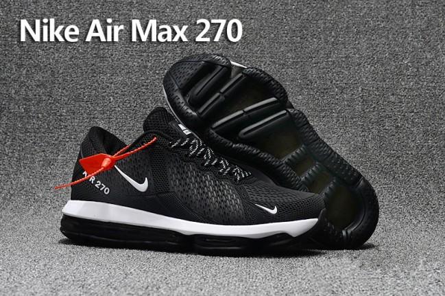 1884acce971 Nike Air Max 270 Trainers KPU TPU Noir Blanche Pas Cher Meilleur Prix