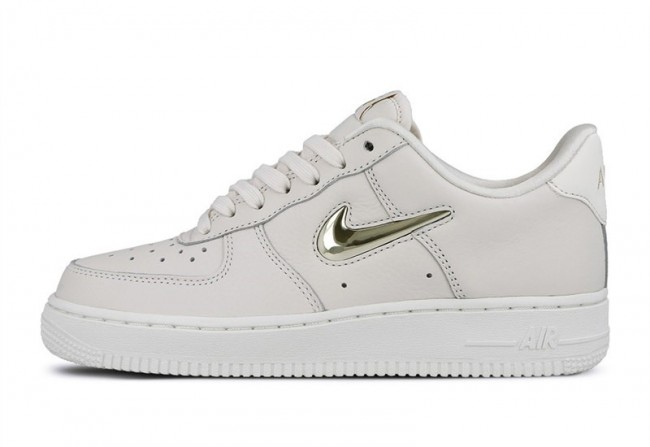 nike air force 1 femme blanc et or