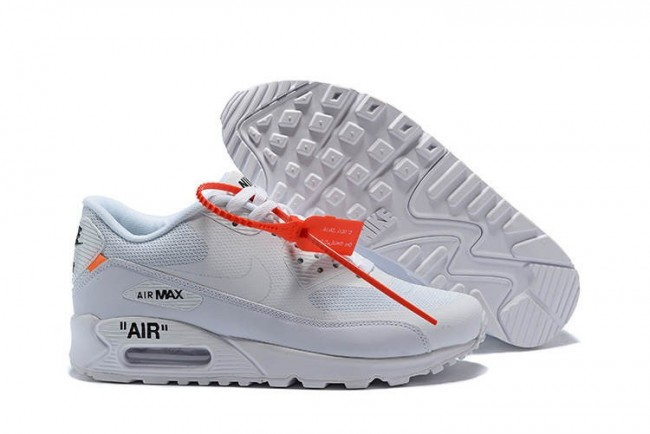 design intemporel 65e15 5f62f Off-White x Nike Air Max 90 All Blanche Pas Cher Meilleur Prix