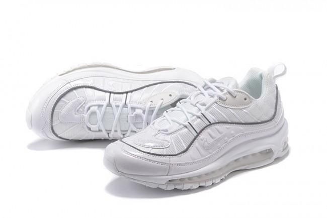 wholesale dealer 5ec9d d8fc1 Acheter Homme Supreme x Nike Air Max 98 Blanche Grise Pas Ch