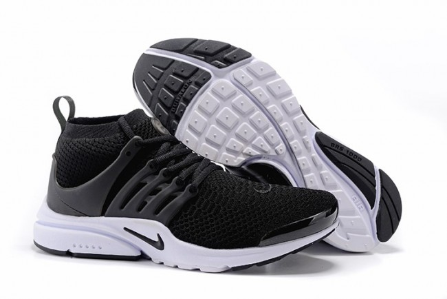 huge selection of a43b8 ec2d5 Boutique Homme Nike Air Presto Ultra Flyknit High Chaussures Noir Blanche