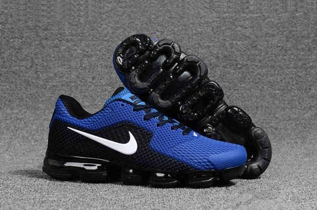 vapormax bleu et noir