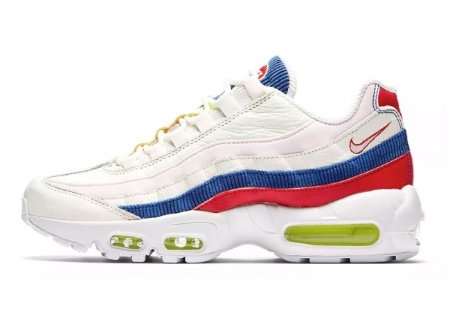check out 989bc 85dc6 Boutique Nike Air Max 95 SE Sail Femme Bleu Rose