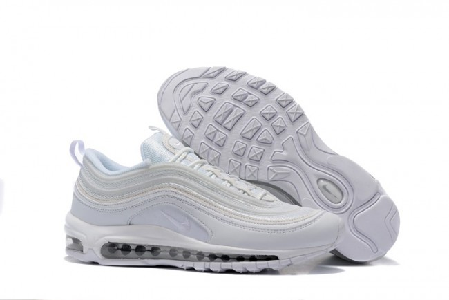Boutique Homme Nike Air Max 97 Blanche Pas Cher