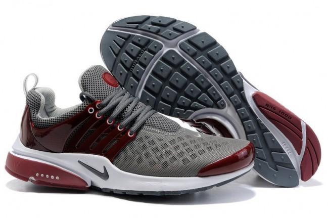 en soldes d402a 0fd8c Boutique Homme Nike Air Presto Chaussures Grise Burgundy Pas ...