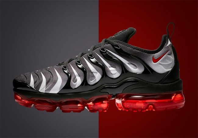 Nike VaporMax Plus Homme Rouge Shark Tooth Noir Whit Pas Cher
