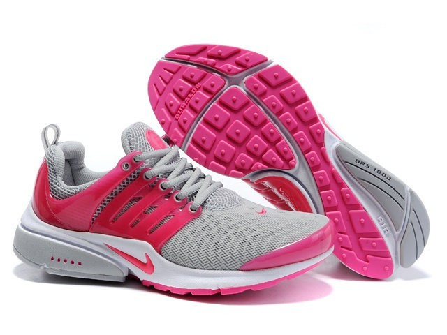 new style 3ab28 9d9da Chaussures Nike Air Presto Grise Rose   Femme Pas Cher