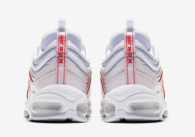 air max 97 blanche rouge homme