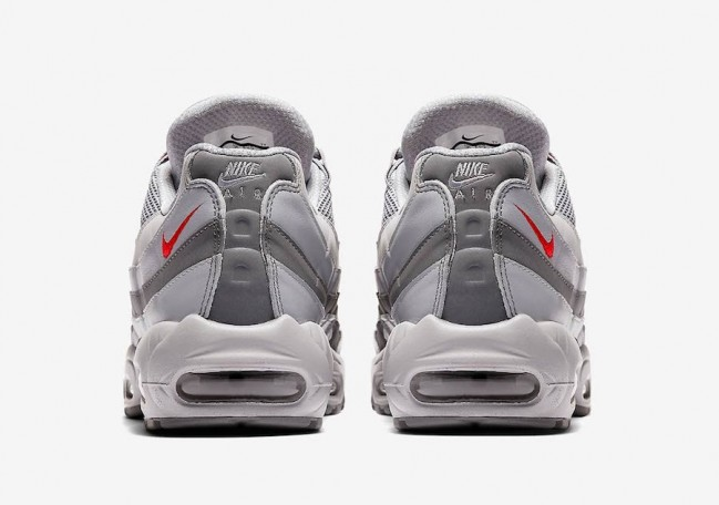 new high low price latest discount Acheter Homme Nike Air Max 95 Grise Argent Rouge Pas Cher