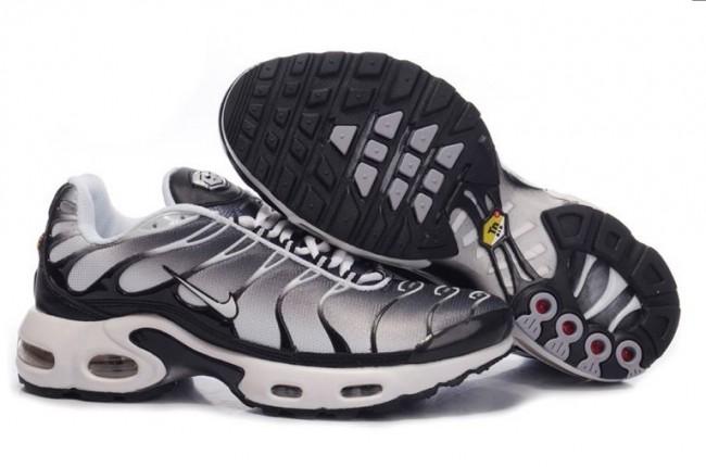 ef3628887ab47c Acheter Homme Nike Air Max TN Chaussures Noir Grise Blanche Pas Cher ...