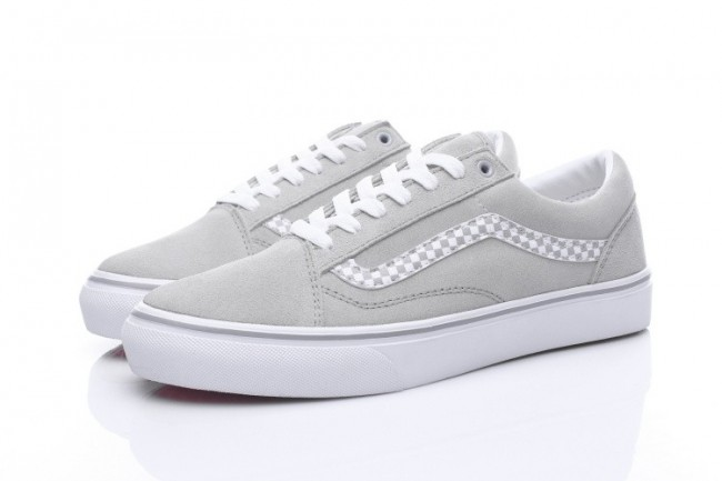 Rabais Chaussures Homme/Femme Vans Old Skool Grise/Blanche ...