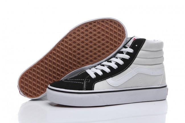 Acheter Chaussures Homme/Femme Vans Sk8-Hi Ivory/Noir Pas ...