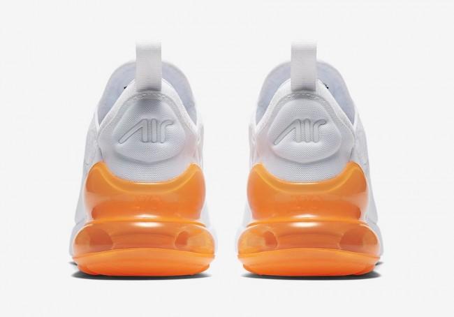 air max 270 blanche orange