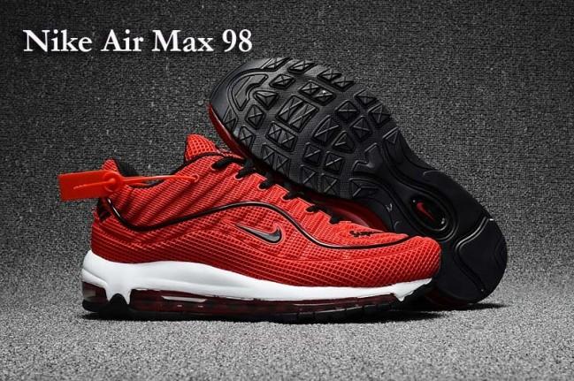photos officielles a2a02 9f4c2 Boutique Homme Supreme x Nike Air Max 98 KPU TPU Rouge Noir ...