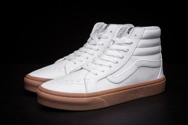 Boutique Chaussures Vans Gum SK8-Hi Slim Lerather Homme ...