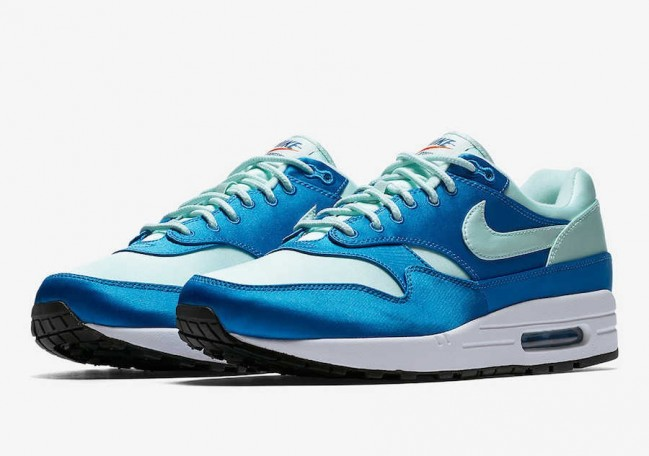 new cheap sale online differently Nike Air Max 1 Satin Pack Homme Bleu Blanche Pas Cher