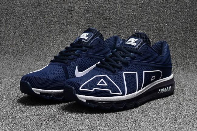Rabais Homme Nike Air Max Flair 2017 Chaussures Bleu Blanche