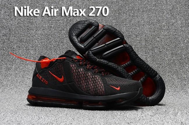 quality design f7118 a6c6d Homme Nike Air Max 270 Trainers KPU TPU Noir Rouge Meilleur Prix