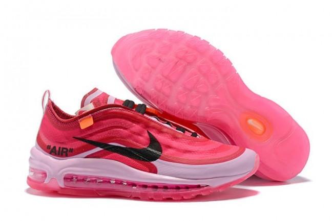 Femme Off-White x Nike Air Max 97 OG Coral Rose Noir Pas ...