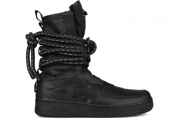 Nike SF AF1 Air Force 1 High Boots Homme Noir Pas Cher