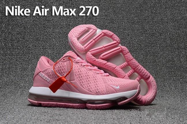 new styles d624c 9509d Acheter Femme Nike Air Max 270 Trainers KPU TPU Rose Blanche