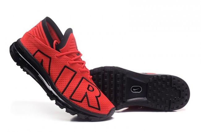 Rabais 2017 Homme Nike Air Max Flair Chaussures Rouge Noir