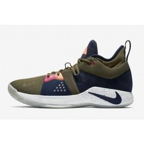 """Homme Nike PG 2 """"Olive Canvas"""" Argent Soldes"""