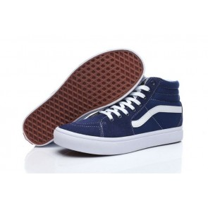 Acheter Chaussures Vans Sk8 Hi Slim Bleu Blanche