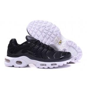 Chaussures Nike Air Max TN Plus Homme Noir Blanche Soldes