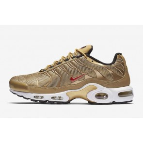 Homme Nike Air Max Plus Or Rouge Soldes