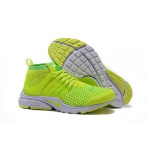 Chaussures Nike Air Presto Ultra Flyknit High Homme Verte Pas Cher